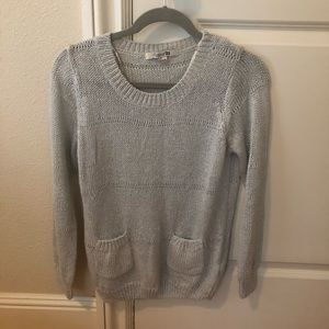 Forever 21 silver sweater shirt